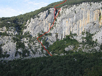 Itinerary of the Via Ferrata